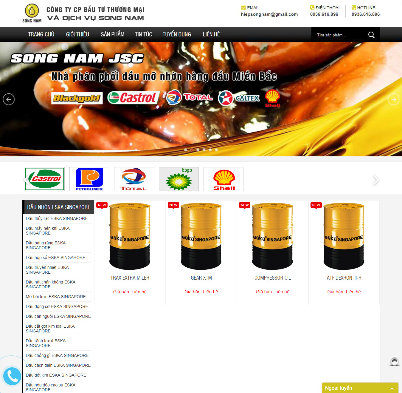 Thiết kế website Công ty Song Nam