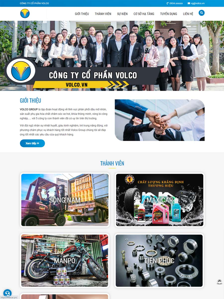 Thiết kế website Công ty Volco