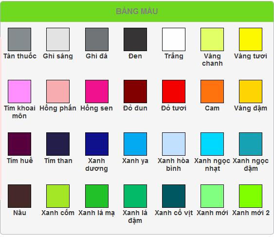 """Kết quả hình ảnh cho bảng màu sắc"""""""